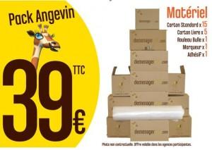 Pack angevin 39€ l'essentiel pour déménager